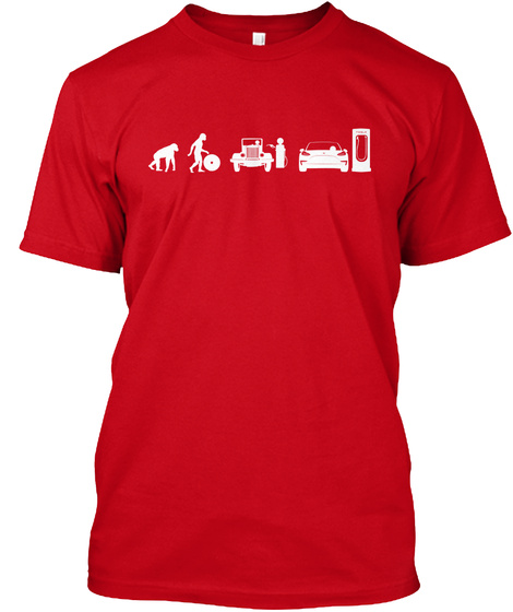 Model 3 Evolve By Mad Hungarian Red T-Shirt Front
