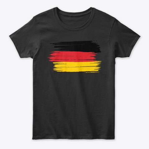 Stylistic Germany Flag Black T-Shirt Front
