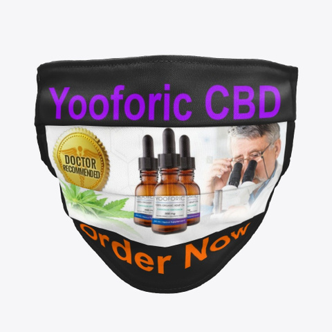 Yooforic Cbd Oil: Buy Reviews Benefits! Black T-Shirt Front