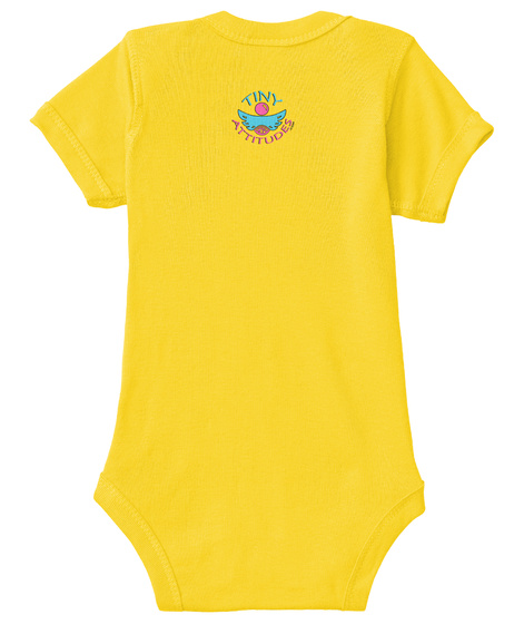 Baby Onesie Yellow  T-Shirt Back