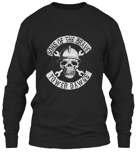 Sons Of The Brave Tower Dawgs Black T-Shirt Front