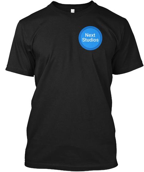 Next Studios Black T-Shirt Front