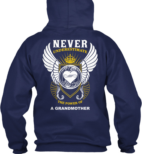 Never Underestimate The Power Of Navy Sweater Back