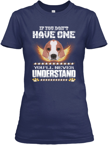 You Never Understand English Pointer Navy T-Shirt Front