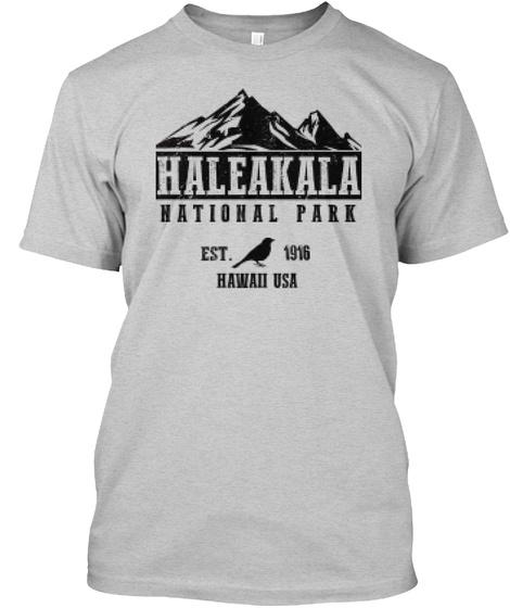 Haleakala National Park T Shirt Light Steel T-Shirt Front