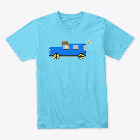 Suck It, Angels! Tahiti Blue T-Shirt Front