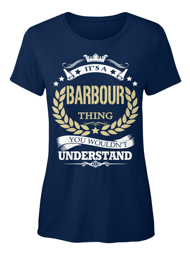 Its-A-Barbour-Thing-It-039-s-You-Wouldn-039-t-Understand-T-shirt-Elegant-pour-Femme
