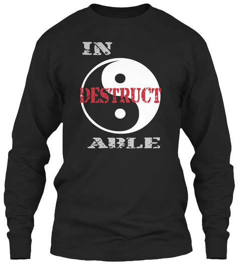 In Destruct  Able  Black T-Shirt Front