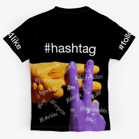 #Hashtag T Shirt Black T-Shirt Back