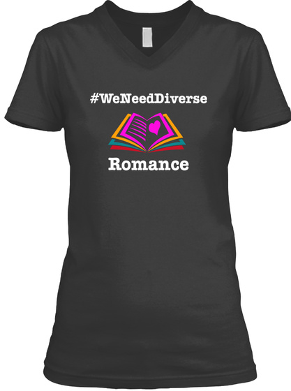 We Need Diverse Romance  Black T-Shirt Front
