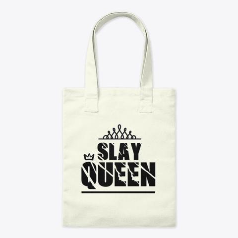 Slay Queen  Natural Camiseta Front