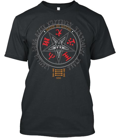 Made By Satan 666 Black T-Shirt Front