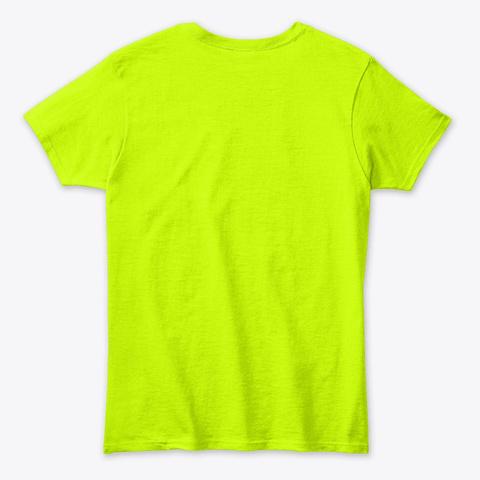 I Am Yogini  Safety Green T-Shirt Back