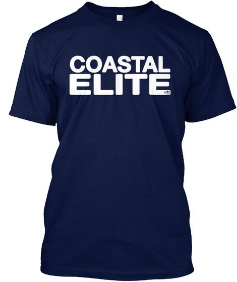 Coastal Elite Navy T-Shirt Front