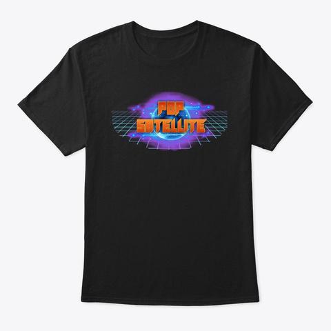 Pop Satellite Black Camiseta Front