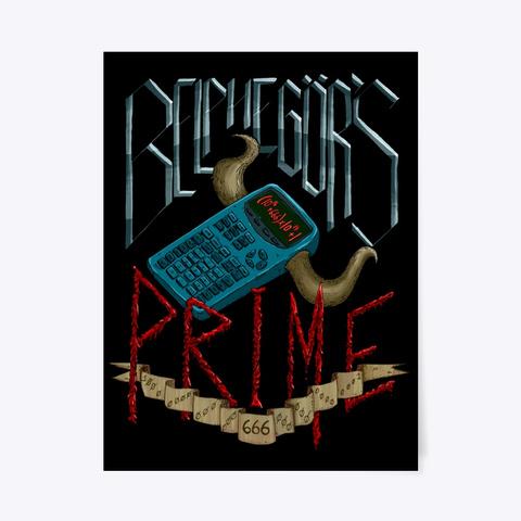 Belphegor's Prime Poster   Numberphile Black T-Shirt Front