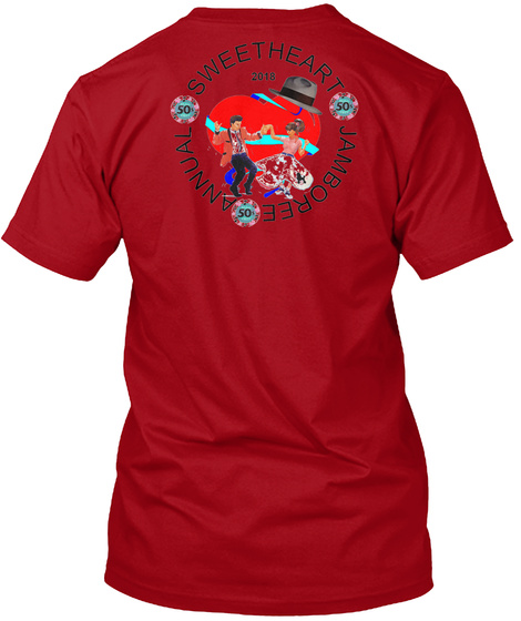 Sweet Heart 50 2018 50 Jamboree 50 Annual Deep Red T-Shirt Back