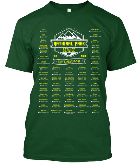 National Parks   Mark Your Parks T-Shirt Front