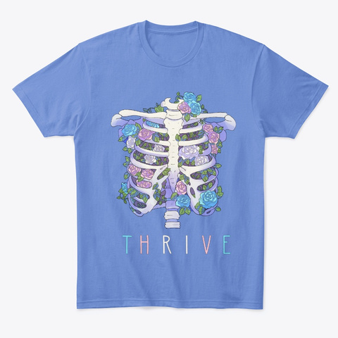 Thrive   Trans Flag Heathered Royal  T-Shirt Front