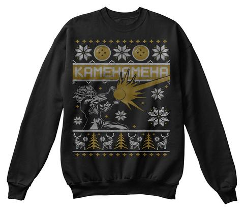 Kamehameha  Black T-Shirt Front