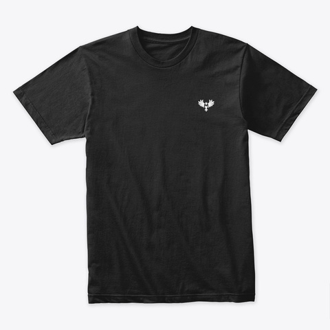 The Phoenix (White Logo) Black T-Shirt Front