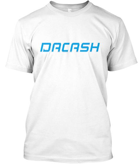 Tshirt Dacash Coin White T-Shirt Front