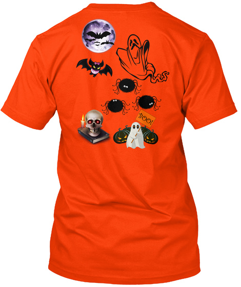 Happy Howloween Orange T-Shirt Back