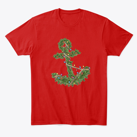 Christmas Anchor Classic Red T-Shirt Front