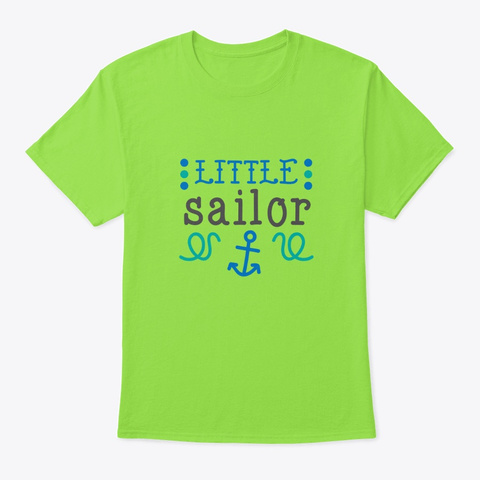 Little Sailor Lime T-Shirt Front