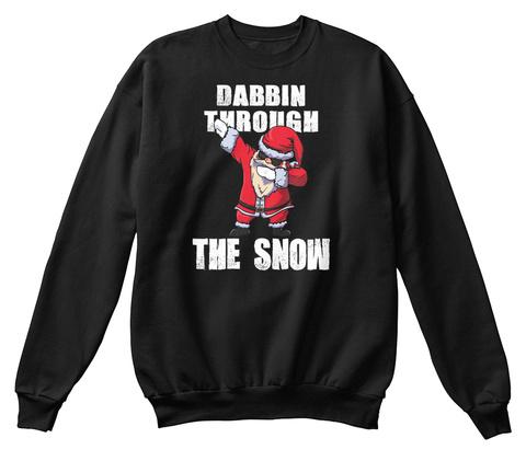 Dabbin Through The Snow Jet Black Sweatshirt Front