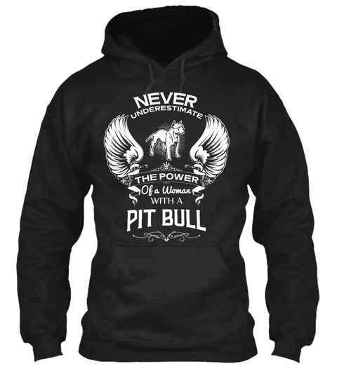 Pitbull Lady Black Sweatshirt Front
