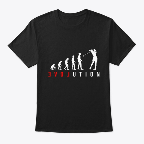 Golf Gift For Golfer Girl, Lady Or Woman Black T-Shirt Front