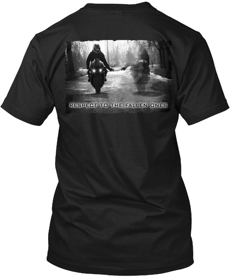 Respect To The Fallen Ones Black T-Shirt Back