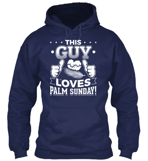 This Guy Loves Palm Sunday Christian T S Navy T-Shirt Front