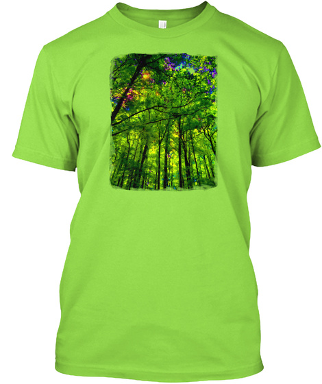 A Walk Through The Woods Lime T-Shirt Front
