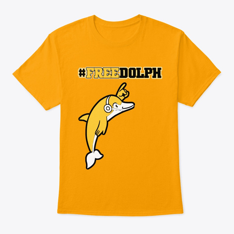 #Free Dolph Gold T-Shirt Front