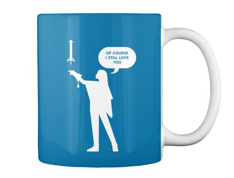 Falconer 1 Woman Mug [Int] #Sfsf Royal Blue Mug Back