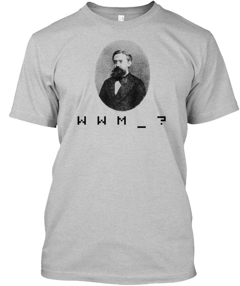 W W M Light Heather Grey  T-Shirt Front