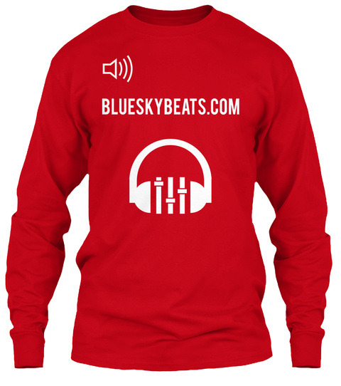 Blueskybeast.Com Red T-Shirt Front