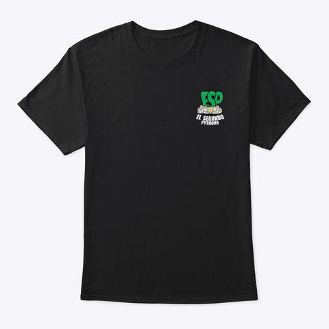 Esp Gear   White Lettering Black T-Shirt Front