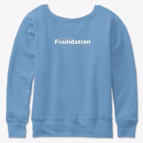Fkf Tell Your Dog I Said Hi Blue Triblend  T-Shirt Back