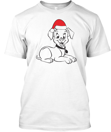 Dog Lovers Owner Christmas Gifts White T-Shirt Front
