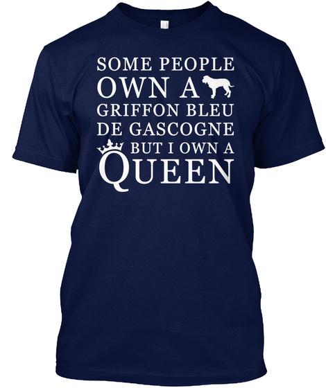 Griffon Bleu De Gascogne Navy T-Shirt Front