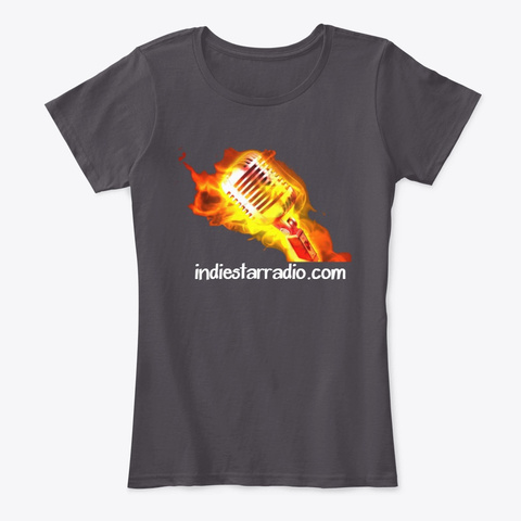 Official Indie Star Radio Ladies Tshirt  Heathered Charcoal  T-Shirt Front