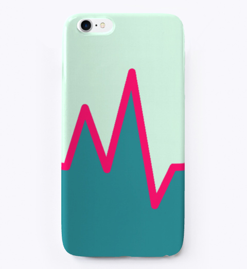 Graph  Design Phonecases | Pink And Blue Mint T-Shirt Front