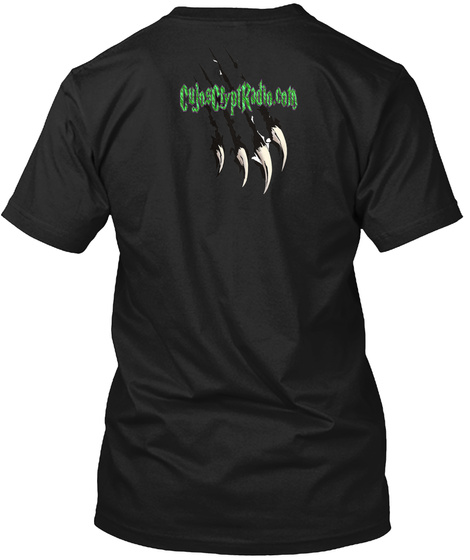 Cujoscryptradio.Com Black T-Shirt Back
