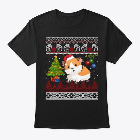 Guinea Pig Christmas Ugly Xmas Gift Black T-Shirt Front