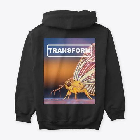 Transform Black T-Shirt Back