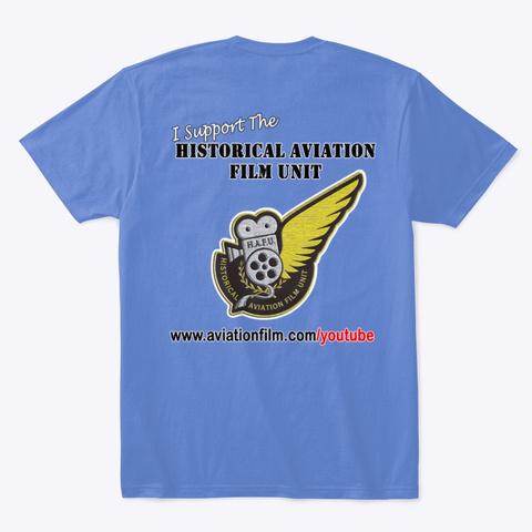 Fokker Dr.1 Cartoon Heathered Royal  T-Shirt Back