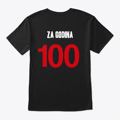 Za Godina 100 Black T-Shirt Back